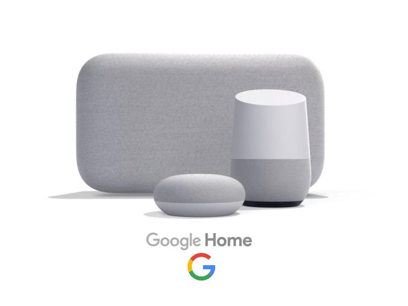 familia de altavoces google home
