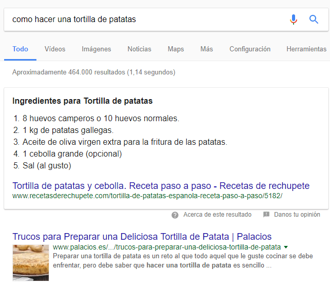 resultado serp metaetiquetas enriquecidas en google